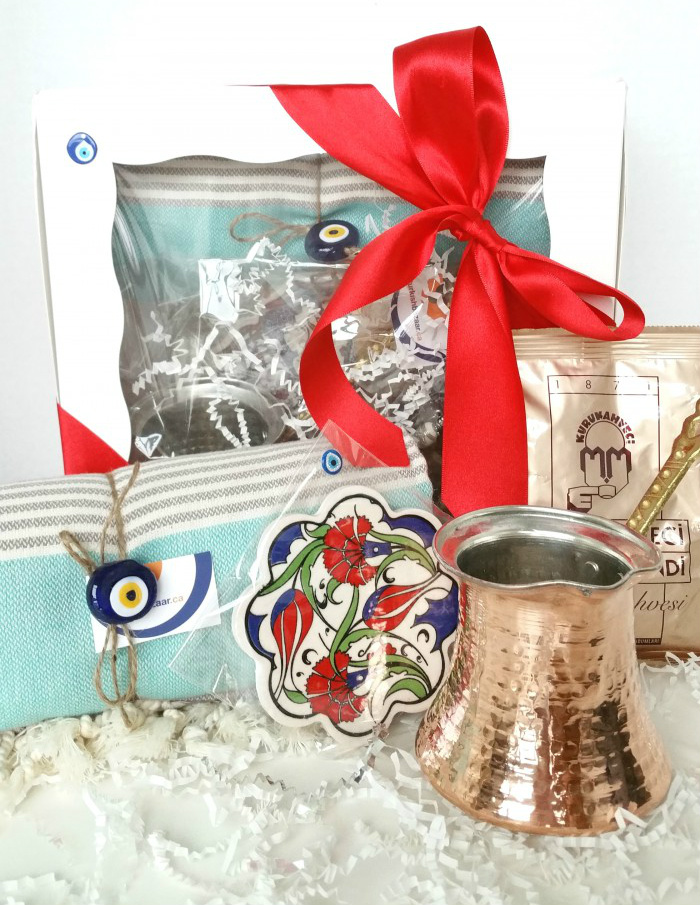 exclusive-customizable-turkish-traditional-gift-set-elegant-bath-hamam-towel-ottoman-design-trivet-traditional-coffee-copper-cezve-mehmet-efendi-tur