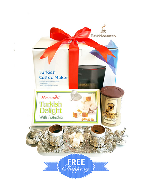 Premium Turkish Greek Coffee Maker Gift Set For Coffee Lovers
