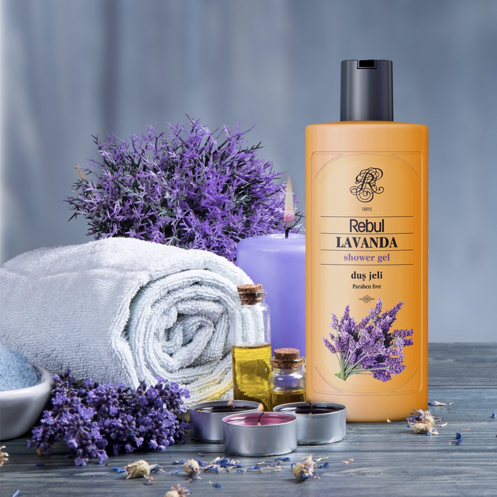 Rebul lavender shower gel paraben free turkish product