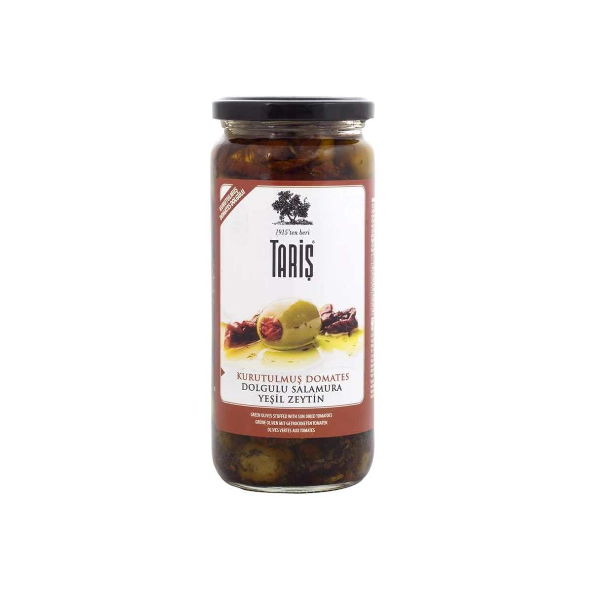 Taris Green Olives Stuffed with Sundried Tomatoes 485g