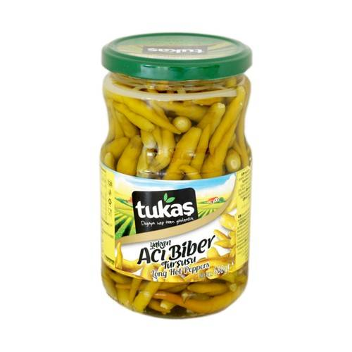 Turkish Tukas Long Hot Peppers 335g