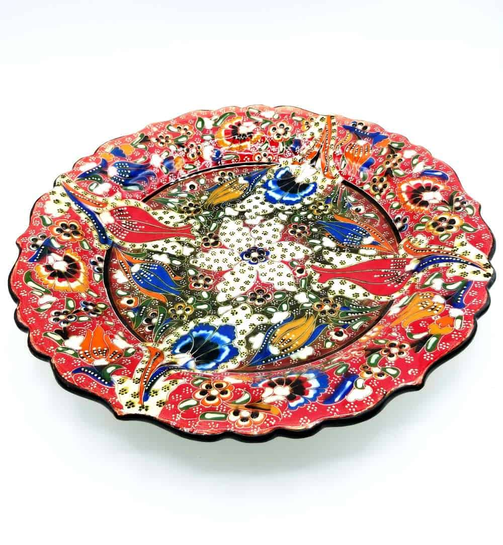 Turkish Ceramic Plate Orange